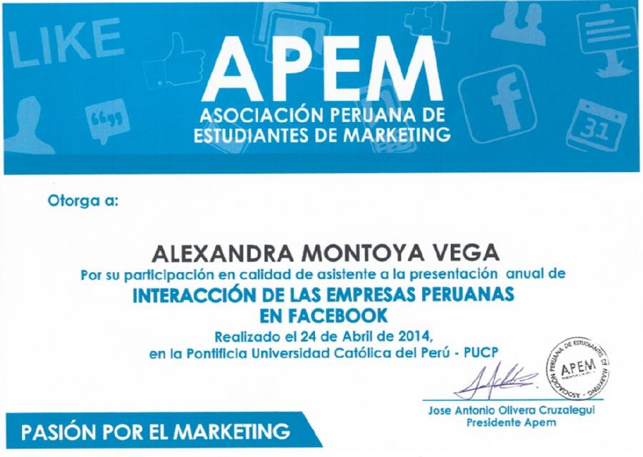 Presentación Anual de Interaccion de las Empresas Peruanas en Facebook