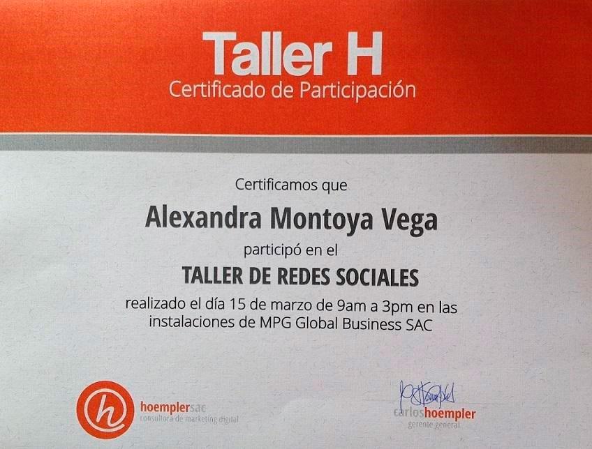 Taller de Redes Sociales. Taller H