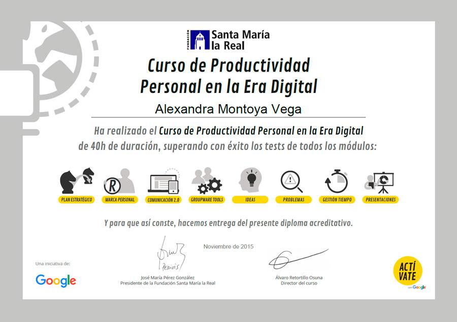 Curso de Productividad Personal en la Era Digital
