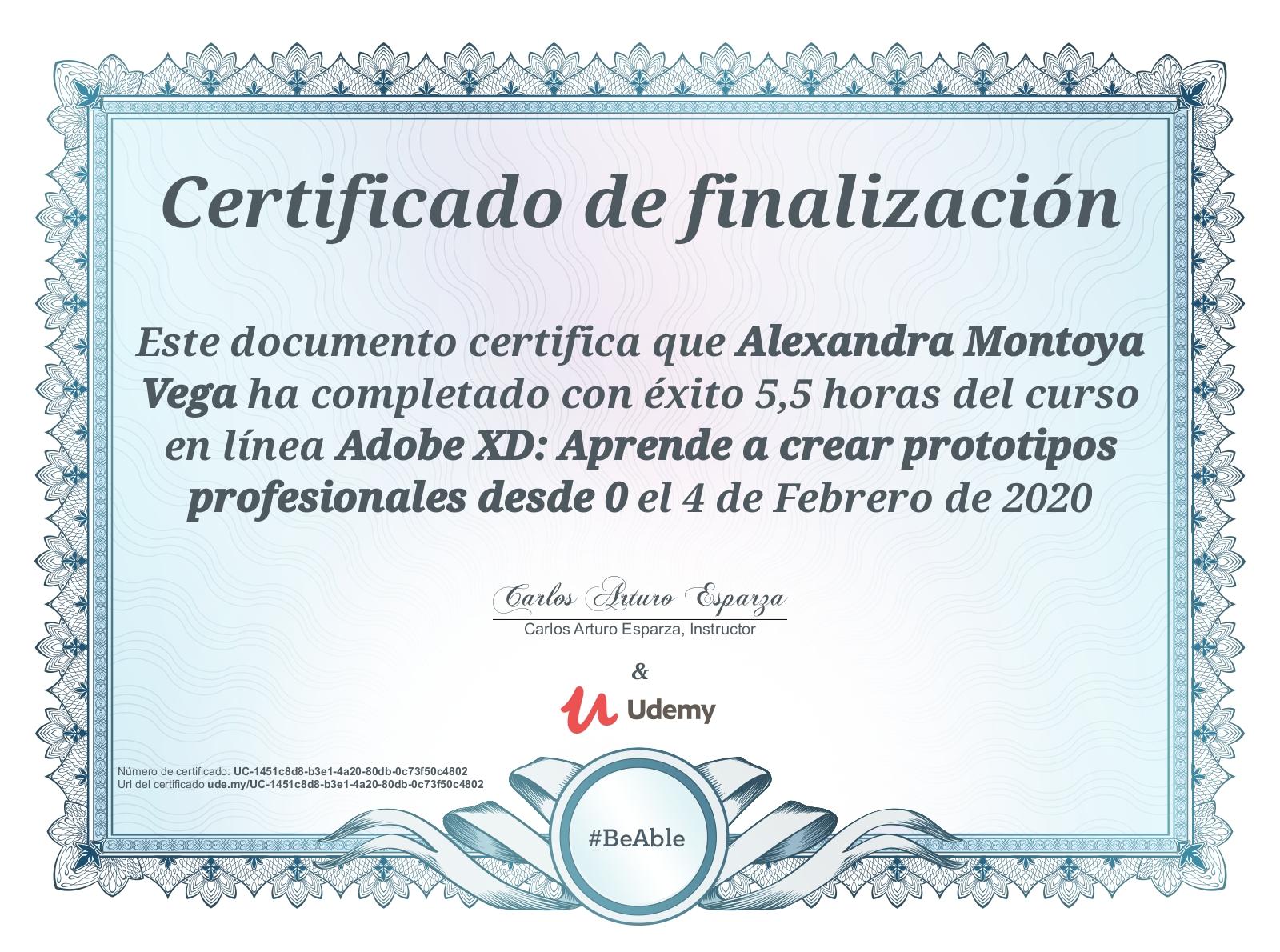 Certificación en Adobe XD: Aprende a crear prototipos profesionales desde cero