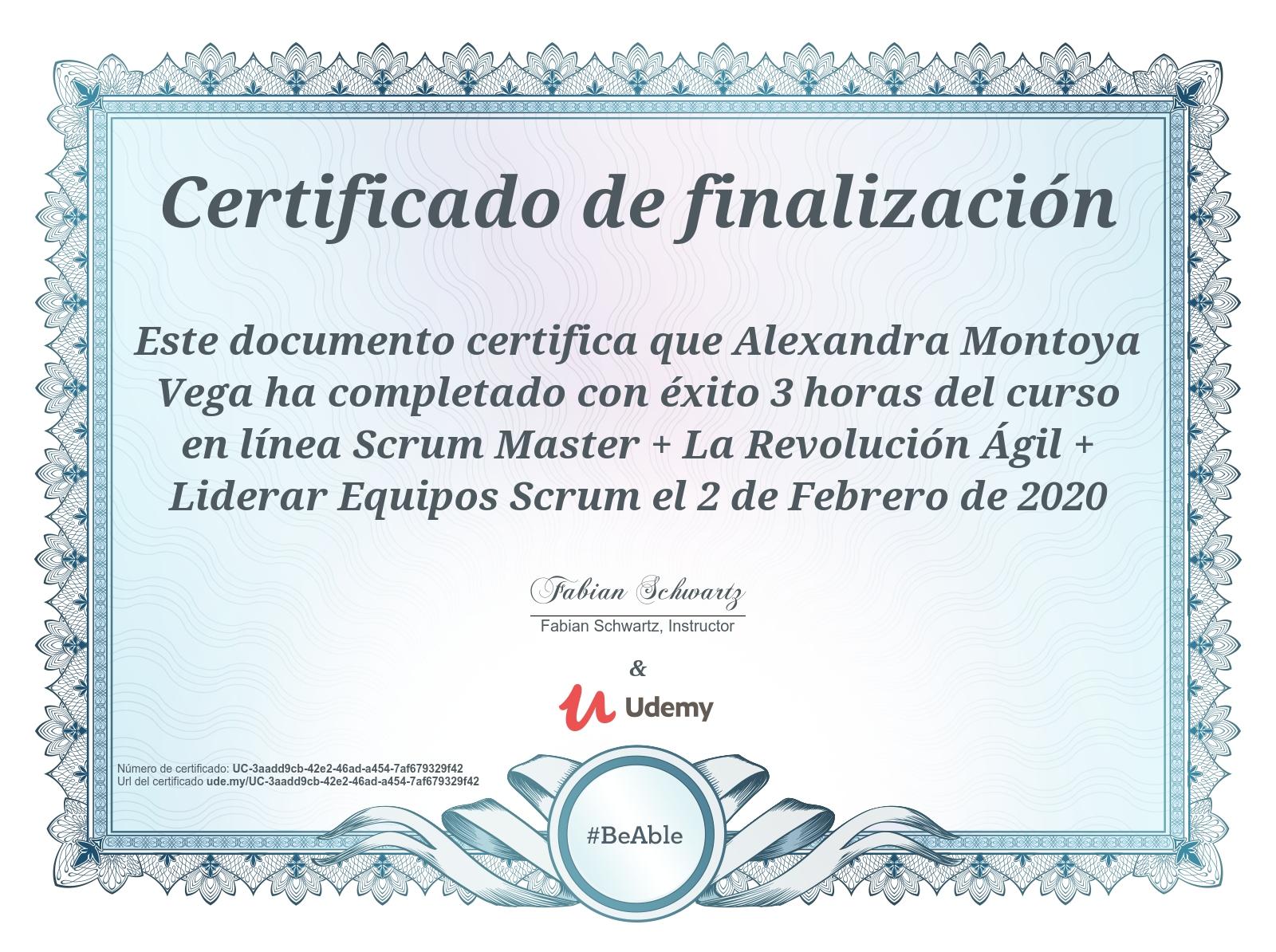 Certificación en Scrum Master. La revolución ágil de crear equipos Scrum