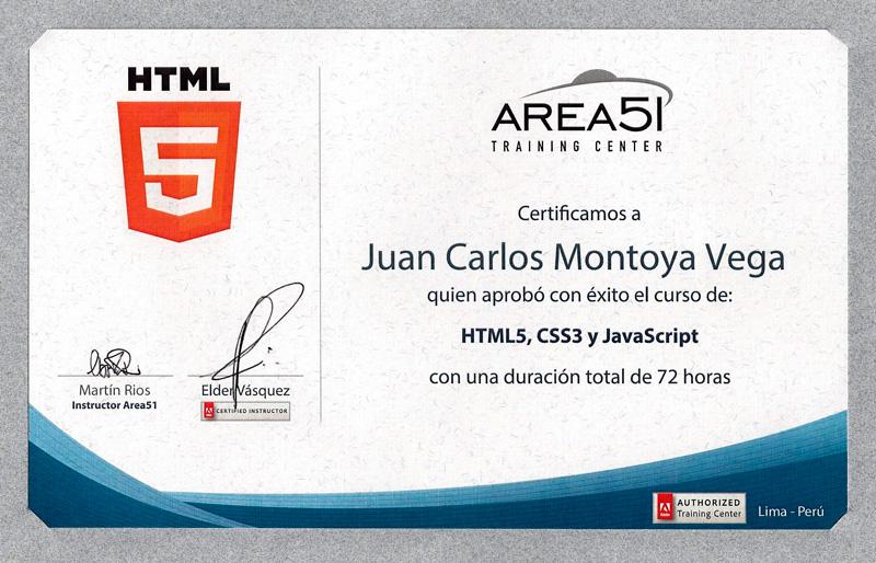Certificación en HTML5, CSS3 y Javascript