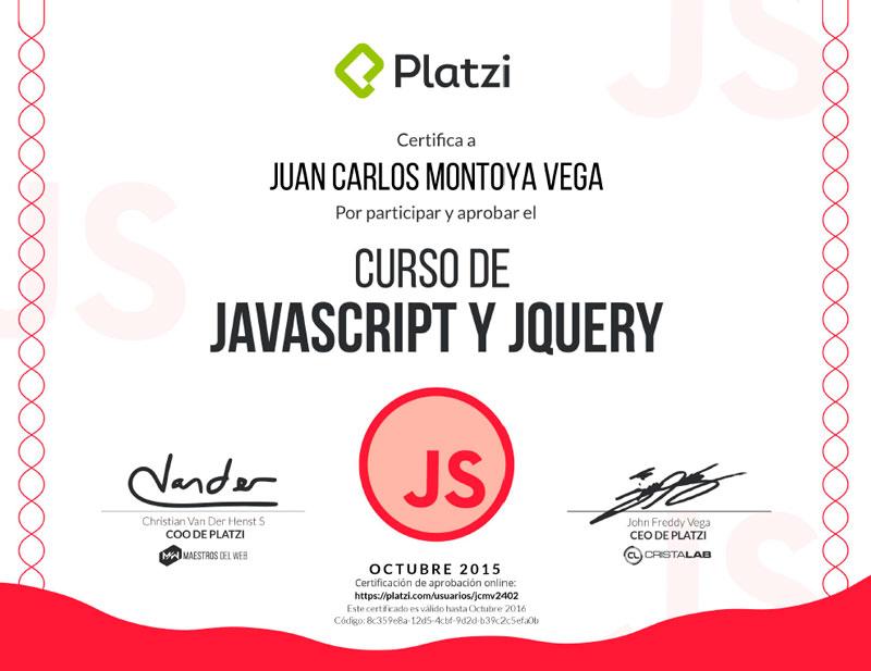 Curso de Javascript y jQuery
