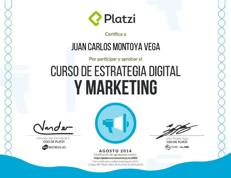 Curso de Estrategia Digital y Marketing