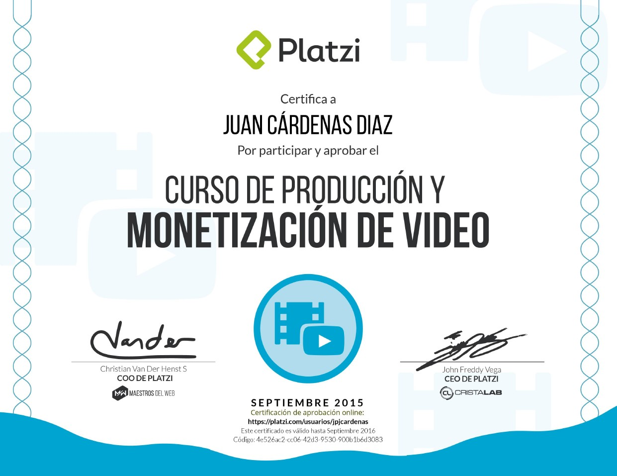 Curso de Producción y Monetización de Video