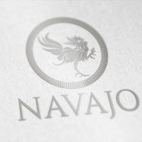 Logotipo en fondo blanco PISCO NAVAJO